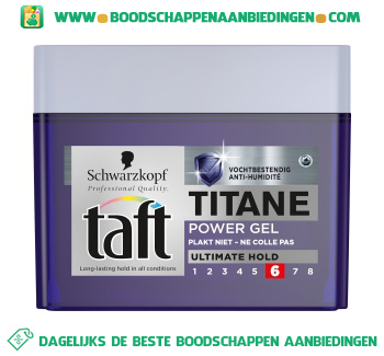 Taft Power gel titane aanbieding