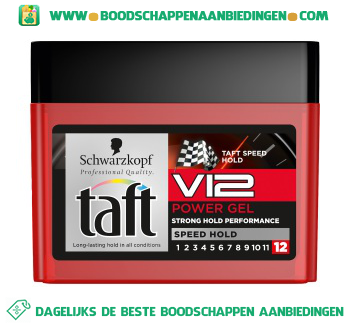 Taft Power gel v12 aanbieding