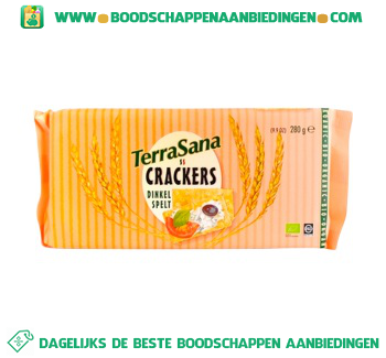 TerraSana Crackers spelt aanbieding