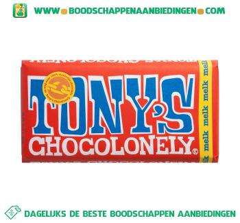 Tony's Chocolonely chocoladereep melk aanbieding