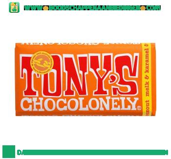Chocolonely chocoladereep melk, karamel en zeezout aanbieding