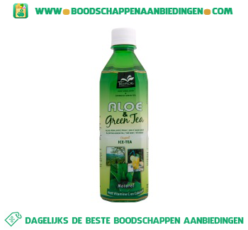 Tropical Aloe & green ice tea aanbieding