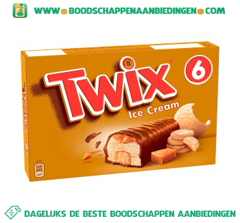 Twix Ice cream aanbieding
