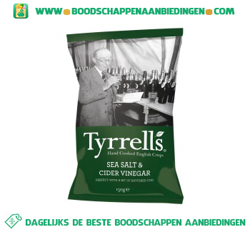 Tyrrell's Sea salt & cider vinegar aanbieding