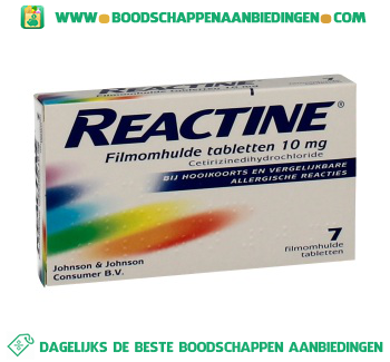Uni Pharma Reactine tabletten aanbieding
