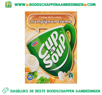 Unox Cup-A-Soup Champignonsoep Crème aanbieding