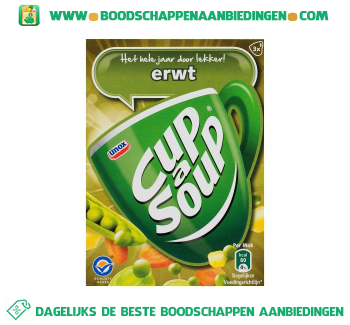 Unox Cup-A-Soup Erwtensoep aanbieding