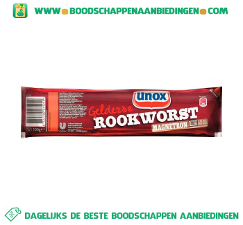 Unox Magnetron Rookworst aanbieding