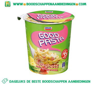 Pasta goodpasta spaghetti carbonara aanbieding