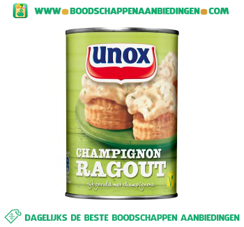 Unox Ragout champignon aanbieding