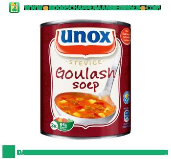 Unox Soep in blik goulashsoep aanbieding