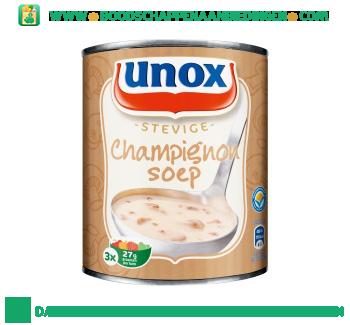 Unox Soep in blik stevige champignonsoep aanbieding