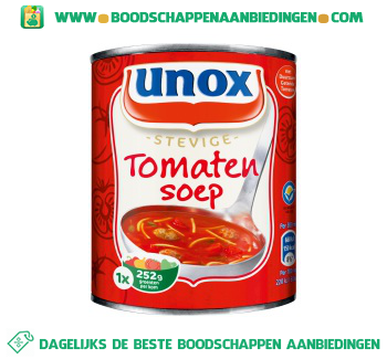 Unox Soep in blik stevige tomatensoep aanbieding