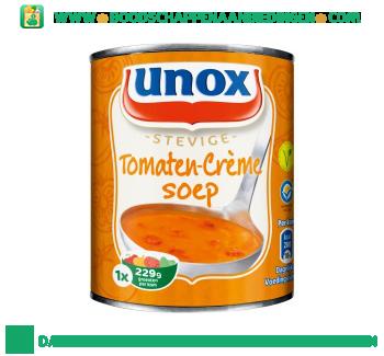 Unox Soep in blik stevige tomatensoep crème aanbieding