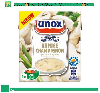 Unox Soep in pak champignonsoep aanbieding