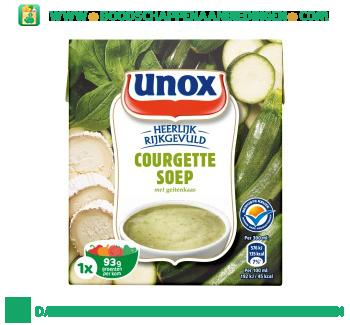 Unox Soep in pak courgettesoep geitenkaas aanbieding