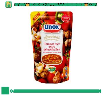 Unox Soep in zak tomatensoep met extra gehaktballen aanbieding