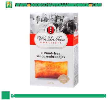 Van Dobben Rundvlees saucijzenbroodjes aanbieding
