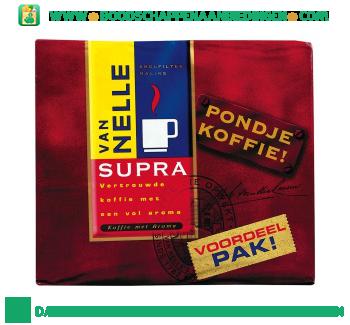 Van Nelle Supra pondje koffie voordeelpak aanbieding