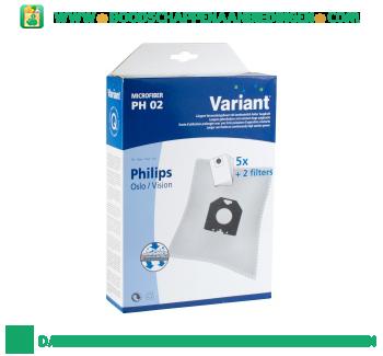 Variant Stofzuigerzak Philips PH02 aanbieding