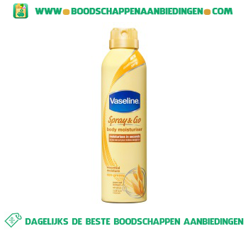 Vaseline Bodylotion spray & go essential moisture aanbieding
