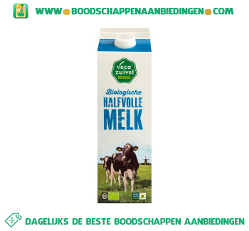 Vecozuivel Biologische halfvolle melk aanbieding
