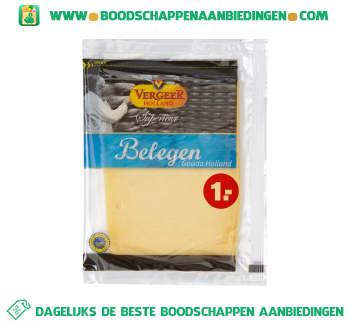 Vergeer Belegen kaasplakken aanbieding