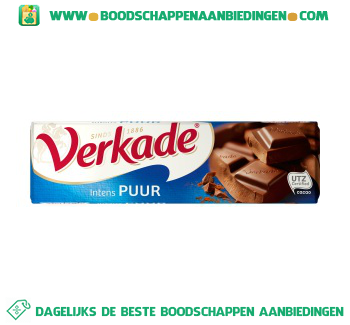 Verkade Chocoladereep puur aanbieding