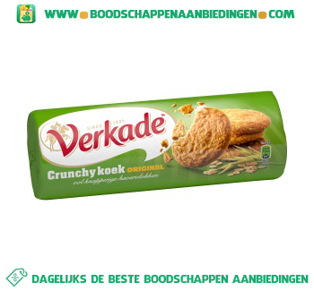 Verkade Crunchy koek original aanbieding