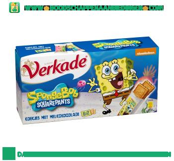 Verkade Spongebob koekjes met melkchocolade aanbieding