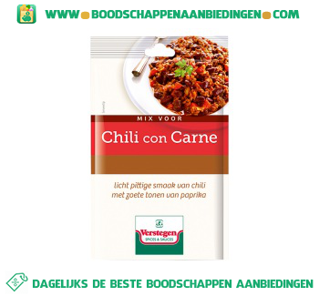Verstegen Kruidenmix chili con carne aanbieding