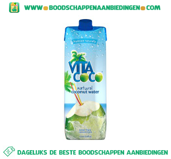 Vita coco Coconut water pure aanbieding