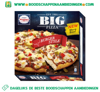 Wagner Big pizza burger style aanbieding