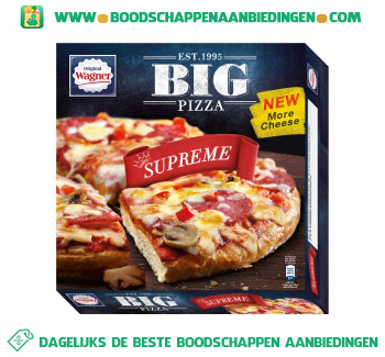 Wagner Big pizza supreme aanbieding