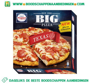 Wagner Big pizza texas aanbieding