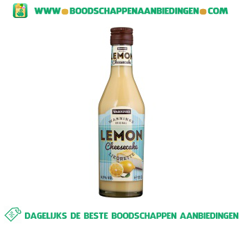 Warnink Lemon cheesecake likorette aanbieding