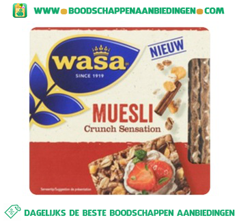 Wasa Crunch sensation muesli aanbieding
