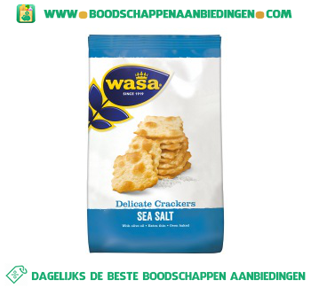 Wasa Delicate crackers sea salt aanbieding