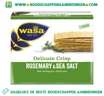 Wasa Delicate crisp rosemary & sea salt aanbieding