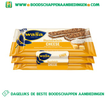 Wasa Sandwich cheese aanbieding