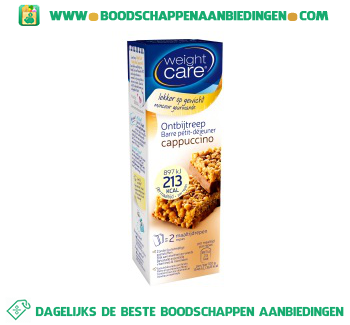 Weight Care Reep cappuccino aanbieding