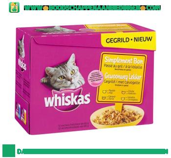 Whiskas Gegrild gevogelte multipak aanbieding