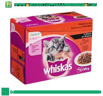 Whiskas Junior multipak 12-pak aanbieding