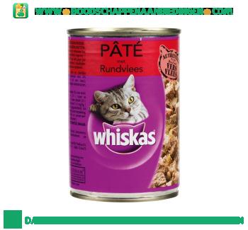 Whiskas Paté met rundvlees aanbieding