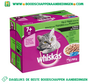 Whiskas Senior brokjes in saus 12-pak aanbieding