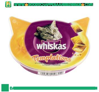Whiskas Temptations kip & kaas aanbieding
