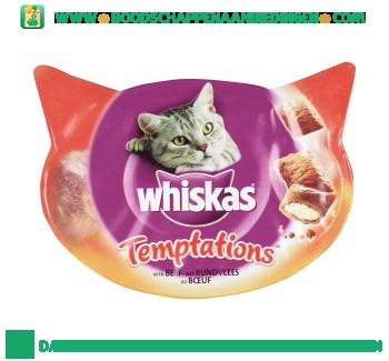 Whiskas Temptations rundvlees aanbieding
