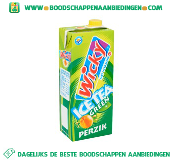 Wicky Ice tea green perzik aanbieding