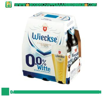 Wieckse 0.0% wit pak 6 flesjes aanbieding