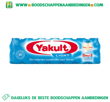 Yakult Light aanbieding